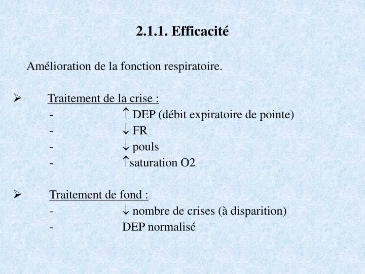 2.1.1. Efficacité
