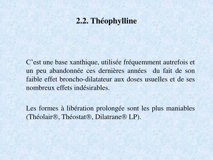 2.2. Théophylline
