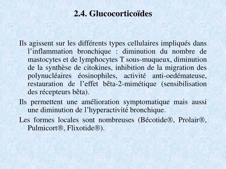 2.4. Glucocorticoïdes