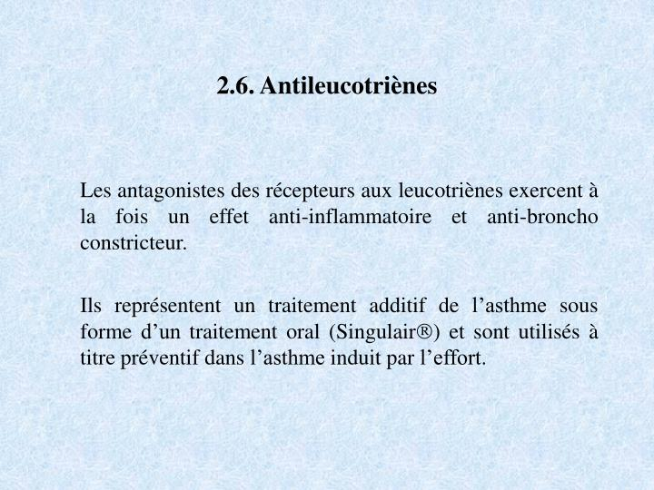2.6. Antileucotriènes