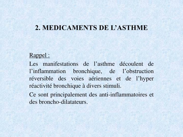 2. MEDICAMENTS DE L'ASTHME