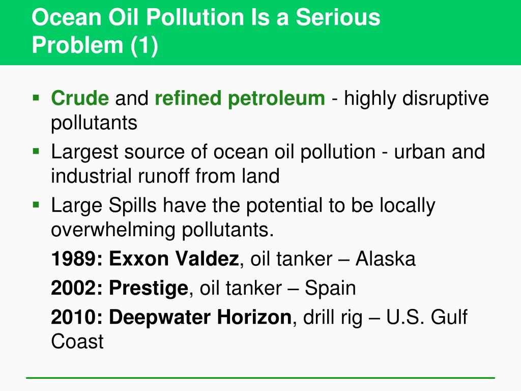 Ocean Oil Pollution Is a Serious