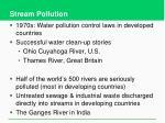 stream pollution