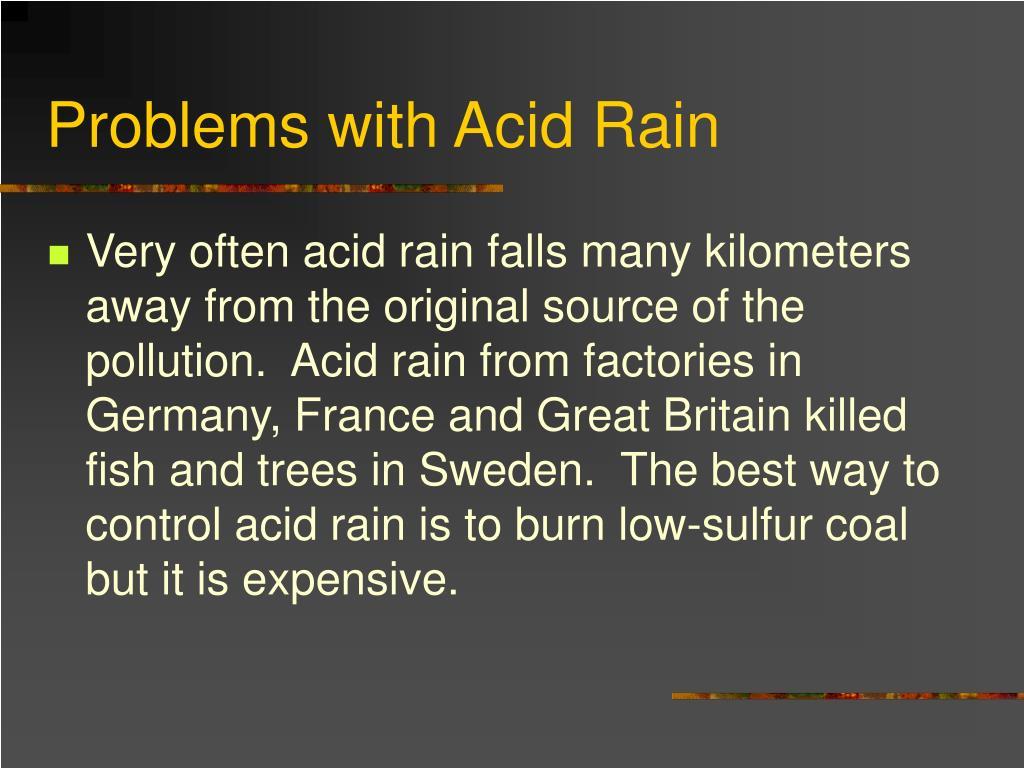 Problems with Acid Rain