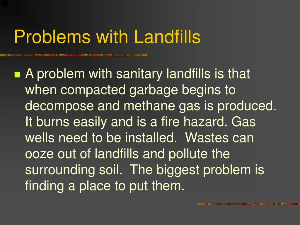 Problems with Landfills