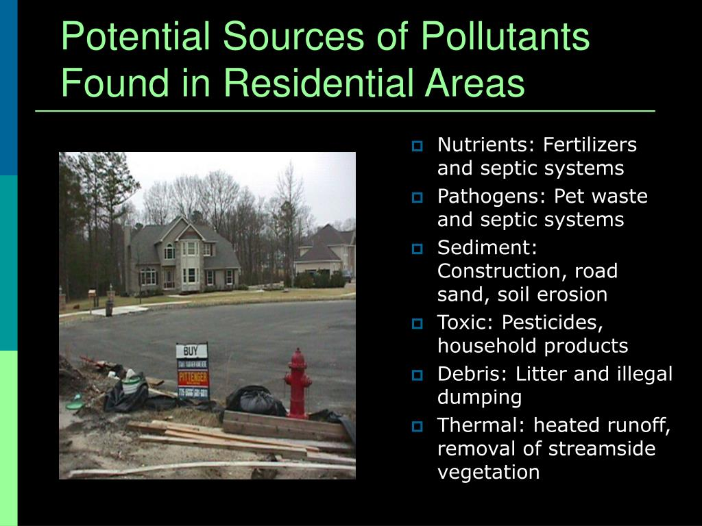 Potential Sources of Pollutants