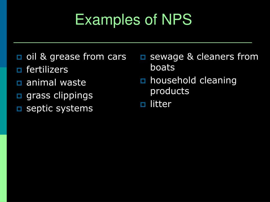 Examples of NPS