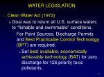 water legislation