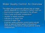 water quality control an overview10