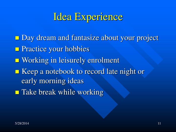 Idea Experience