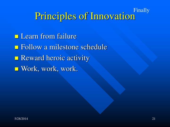 Principles of Innovation