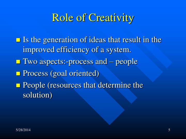Role of Creativity