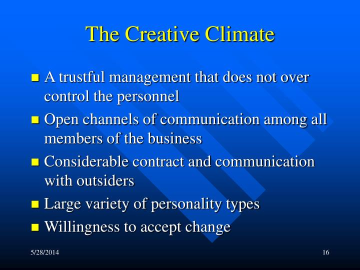The Creative Climate