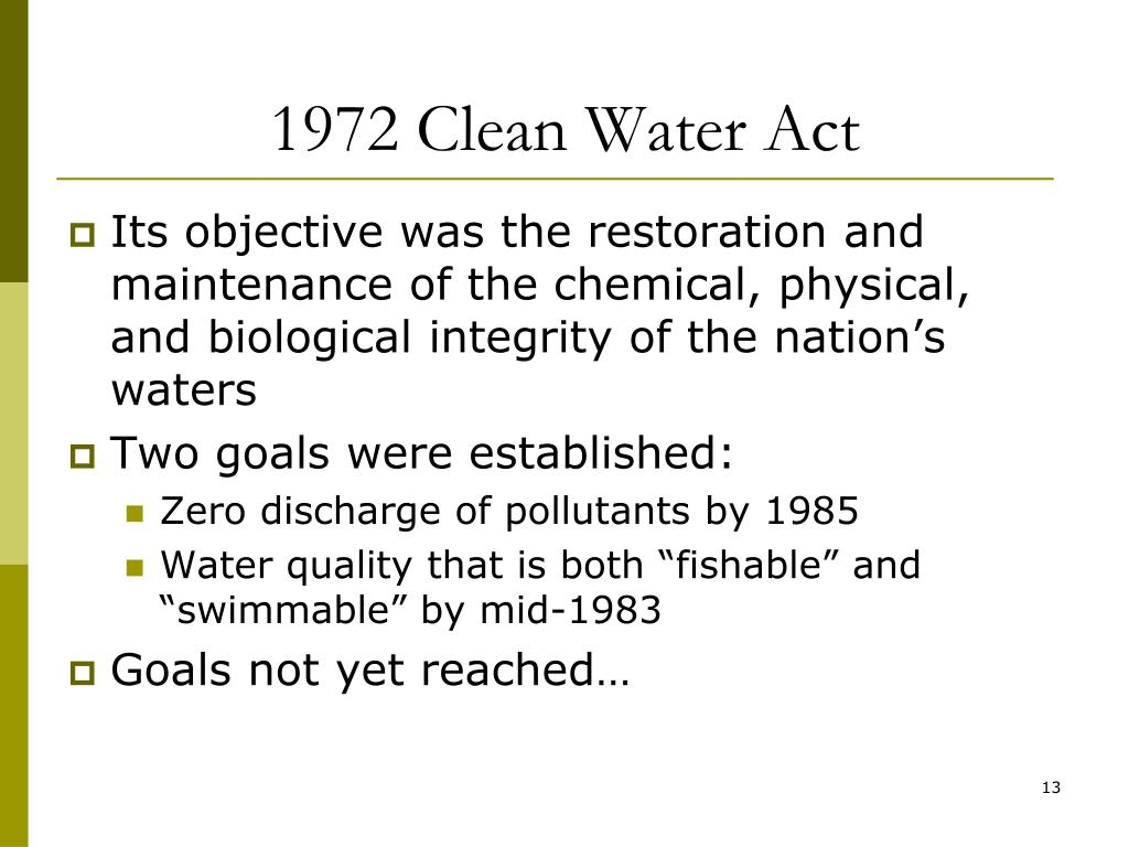 1972 Clean Water Act