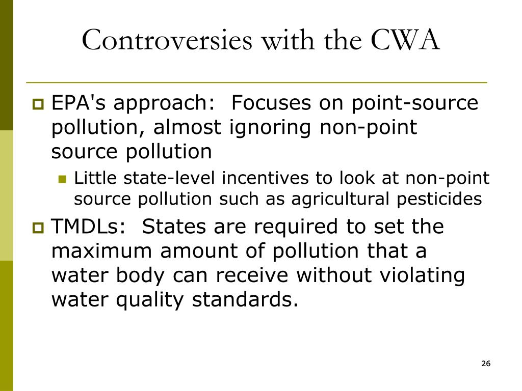 Controversies with the CWA