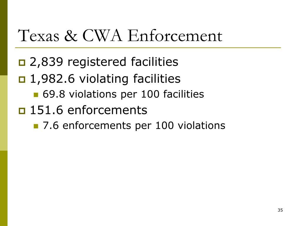 Texas & CWA Enforcement