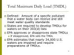 total maximum daily load tmdl