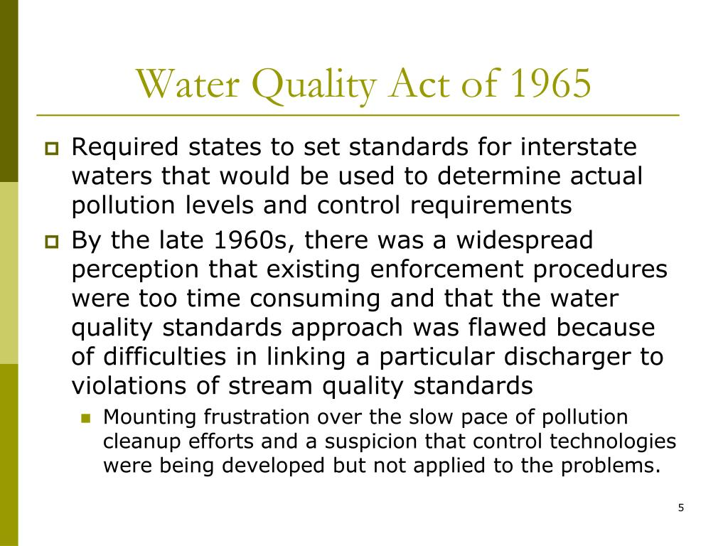 Water Quality Act of 1965