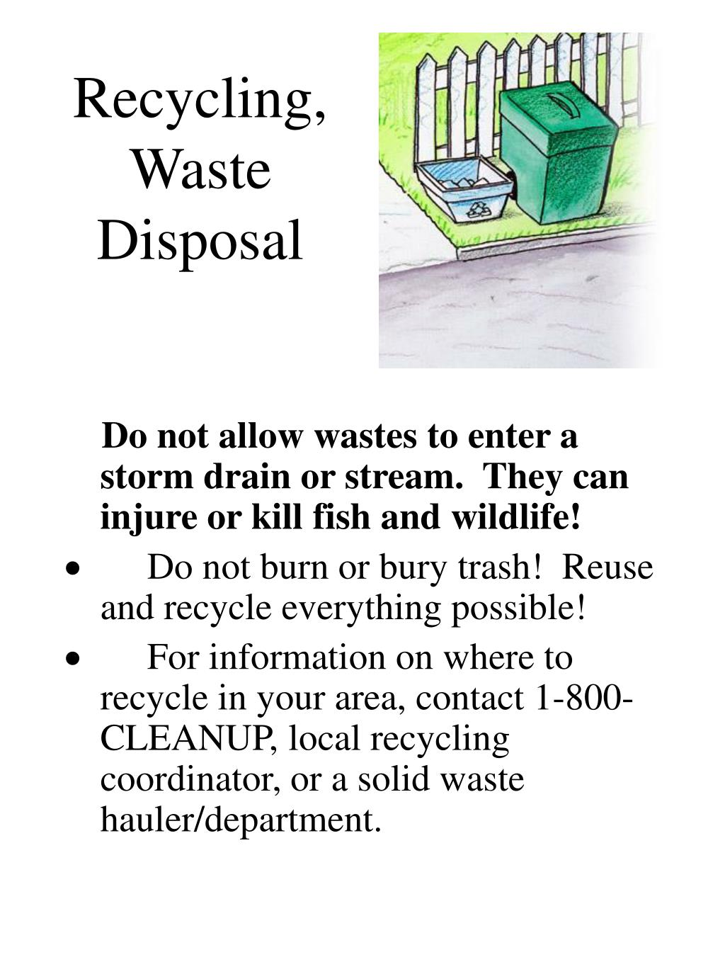 Recycling, Waste Disposal