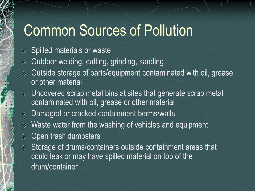 Common Sources of Pollution
