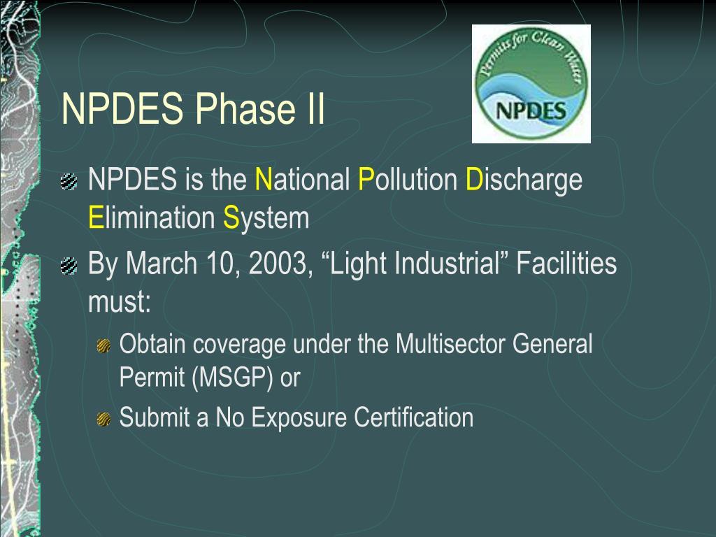 NPDES Phase II