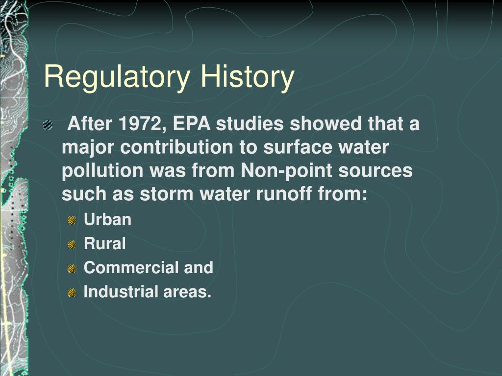 Regulatory History
