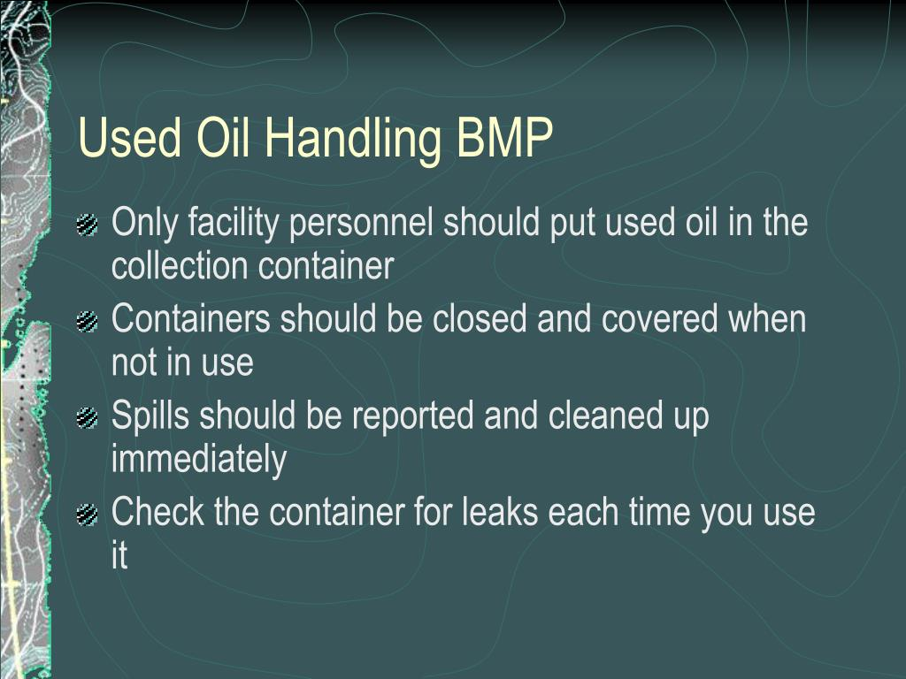 Used Oil Handling BMP