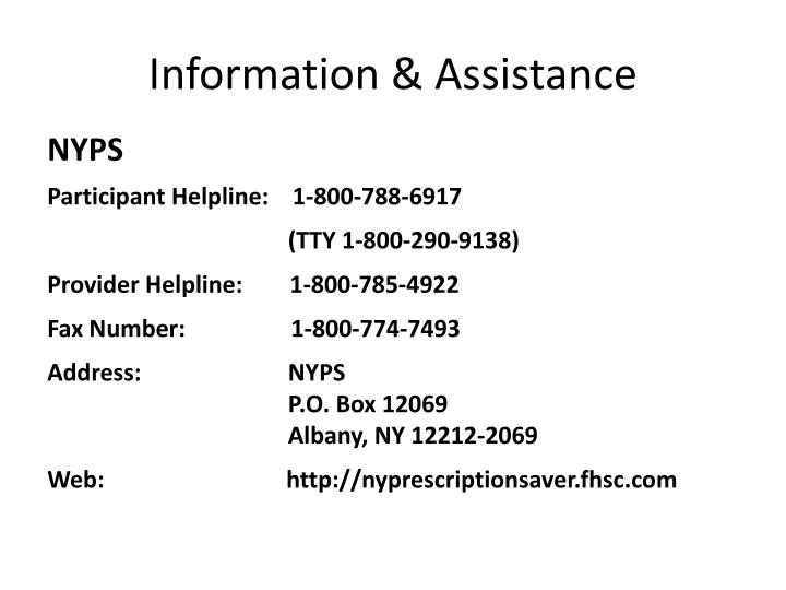 Information & Assistance