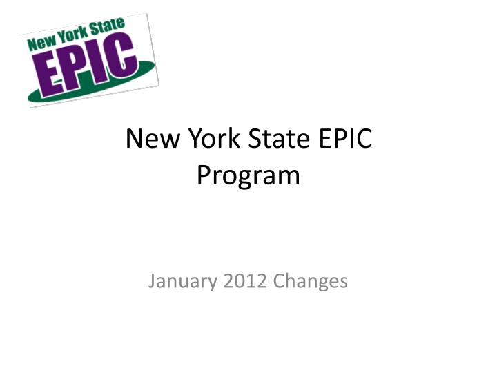 New york state epic program