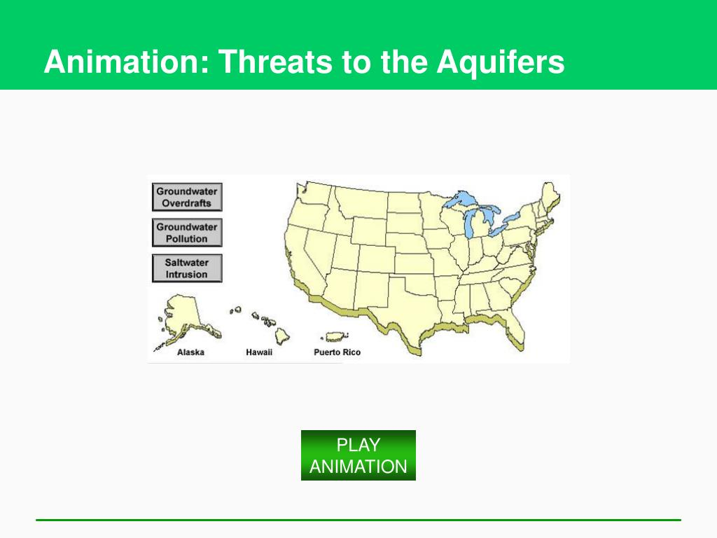Animation: Threats to the Aquifers