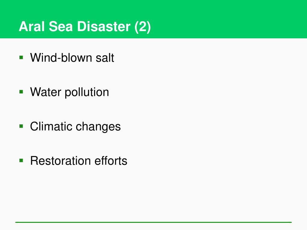 Aral Sea Disaster (2)