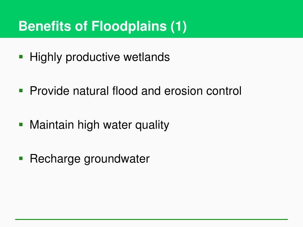 Benefits of Floodplains (1)