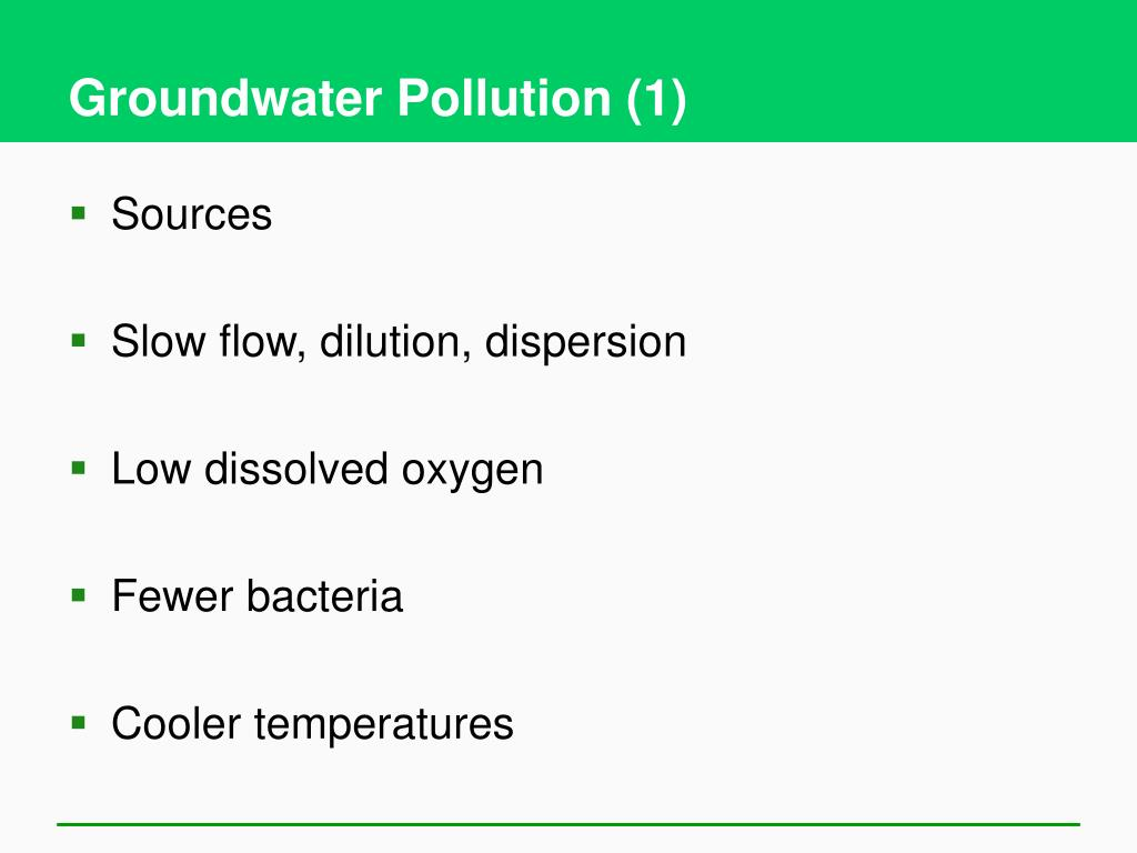 Groundwater Pollution (1)