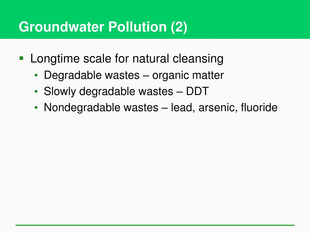 Groundwater Pollution (2)