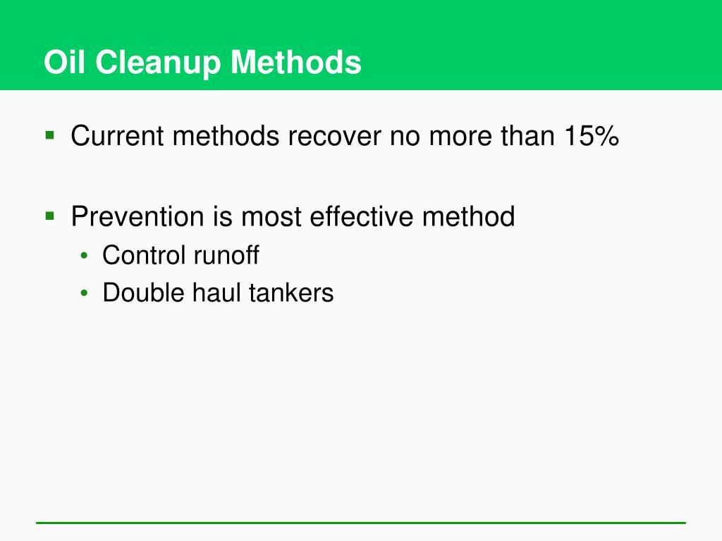 Oil Cleanup Methods