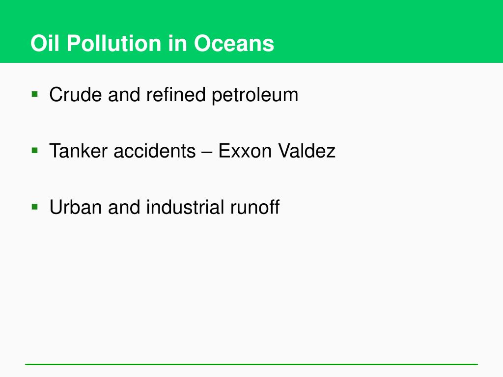 Oil Pollution in Oceans