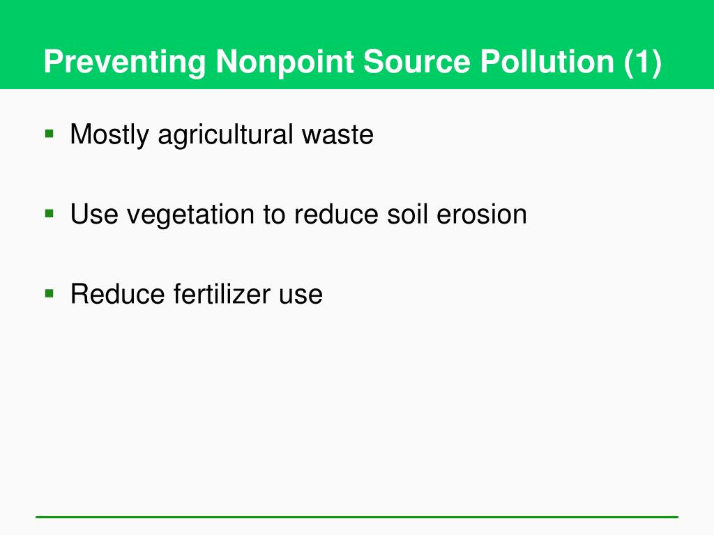 Preventing Nonpoint Source Pollution (1)