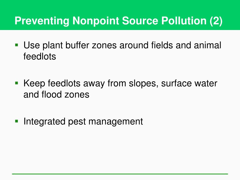 Preventing Nonpoint Source Pollution (2)