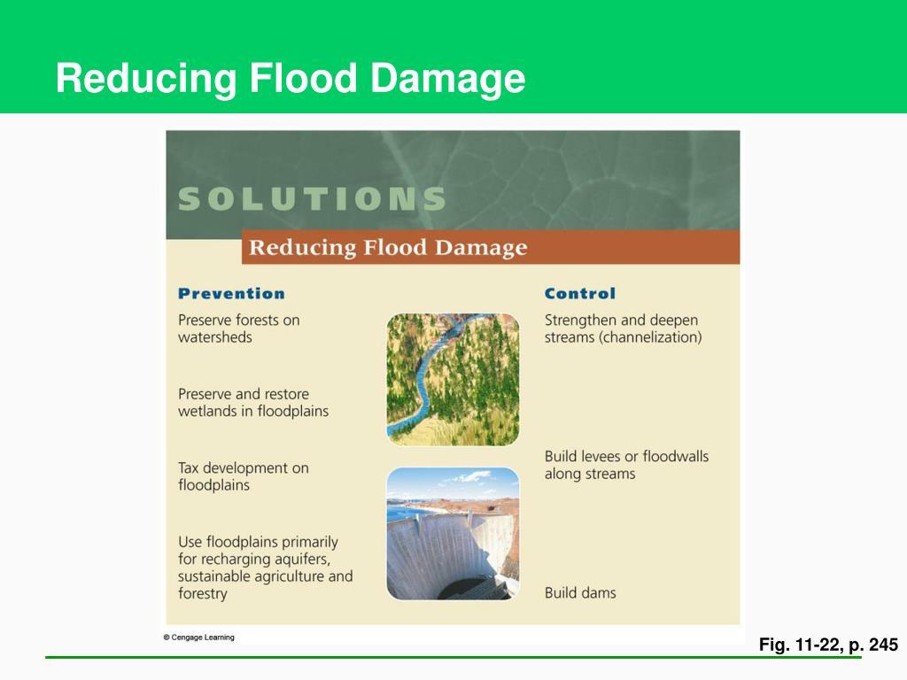 Reducing Flood Damage