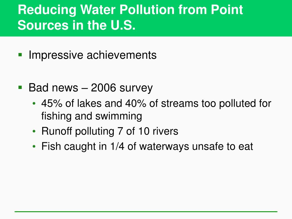 Reducing Water Pollution from Point Sources in the U.S.