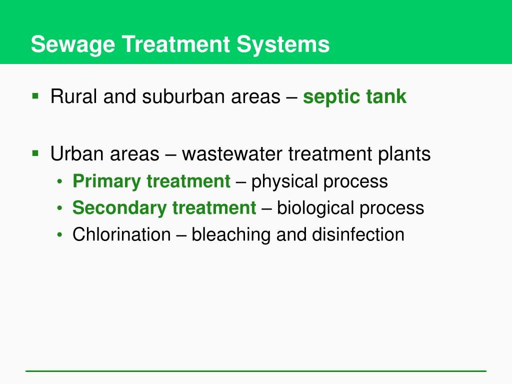 Sewage Treatment Systems