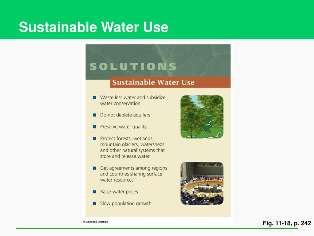Sustainable Water Use