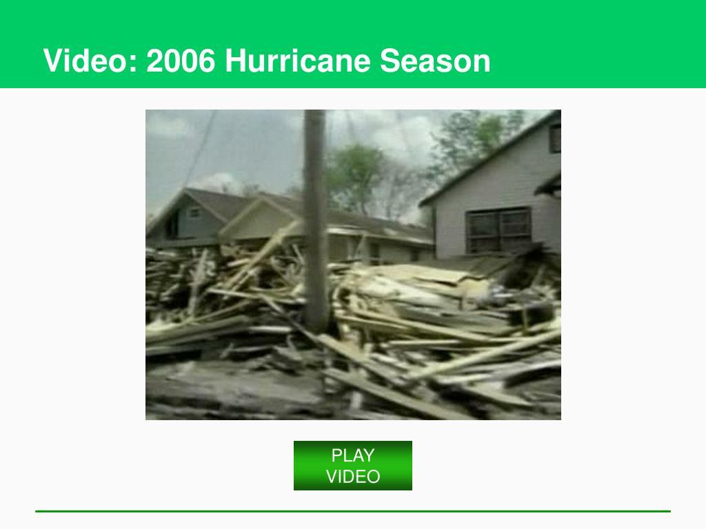 Video: 2006 Hurricane Season