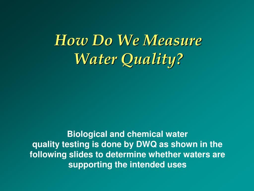 How Do We Measure