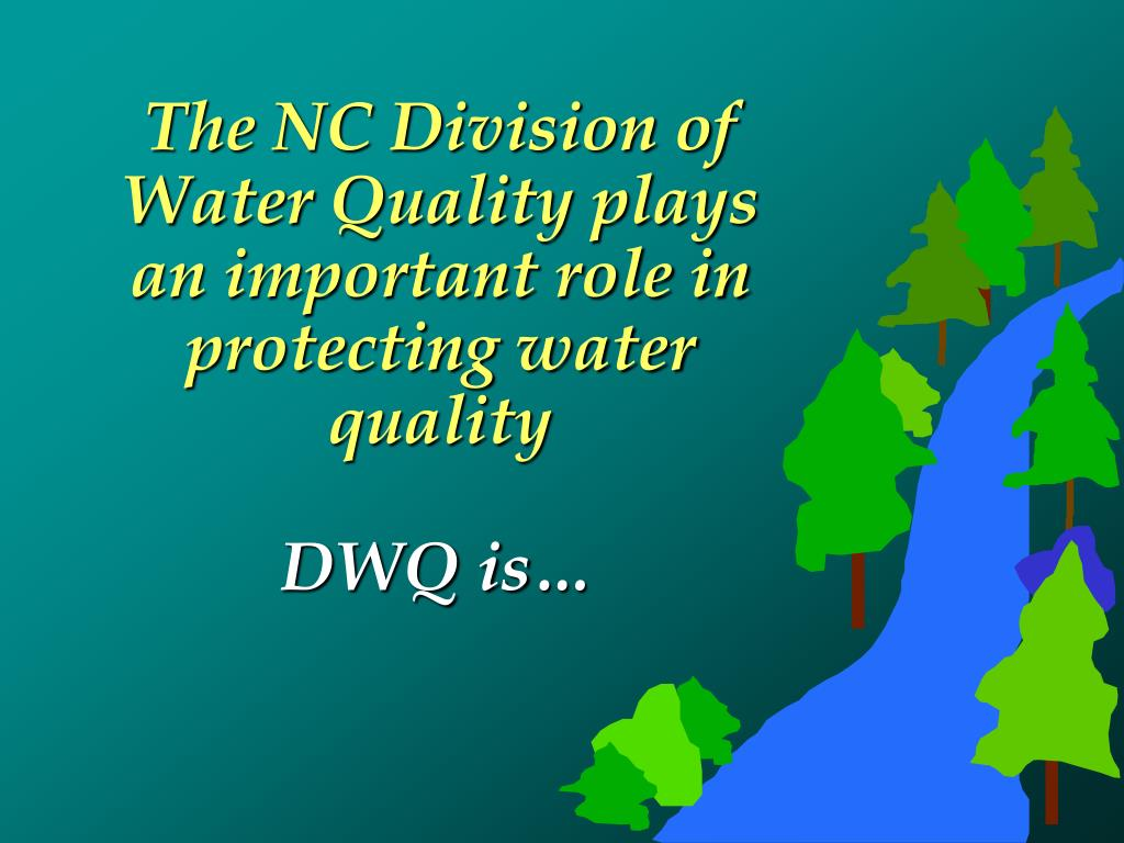 The NC Division of Water Quality plays an important role in protecting water quality