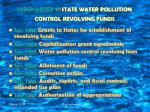 subchapter vi state water pollution control revolving funds