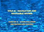 title 33 navigation and navigable waters