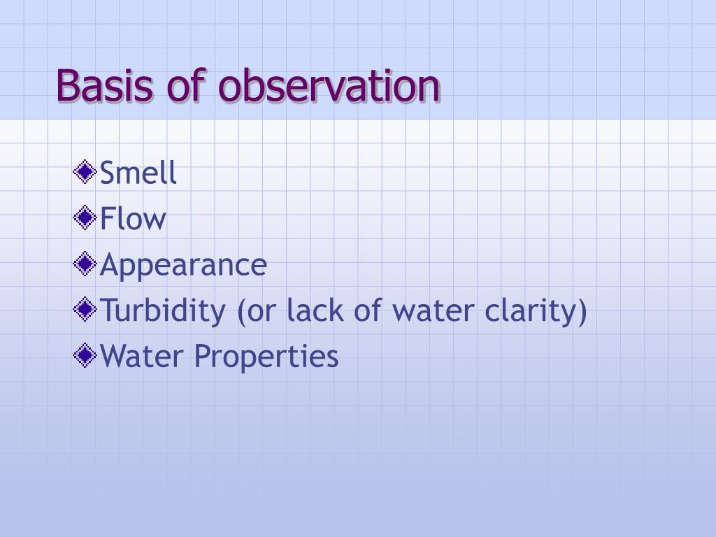 Basis of observation