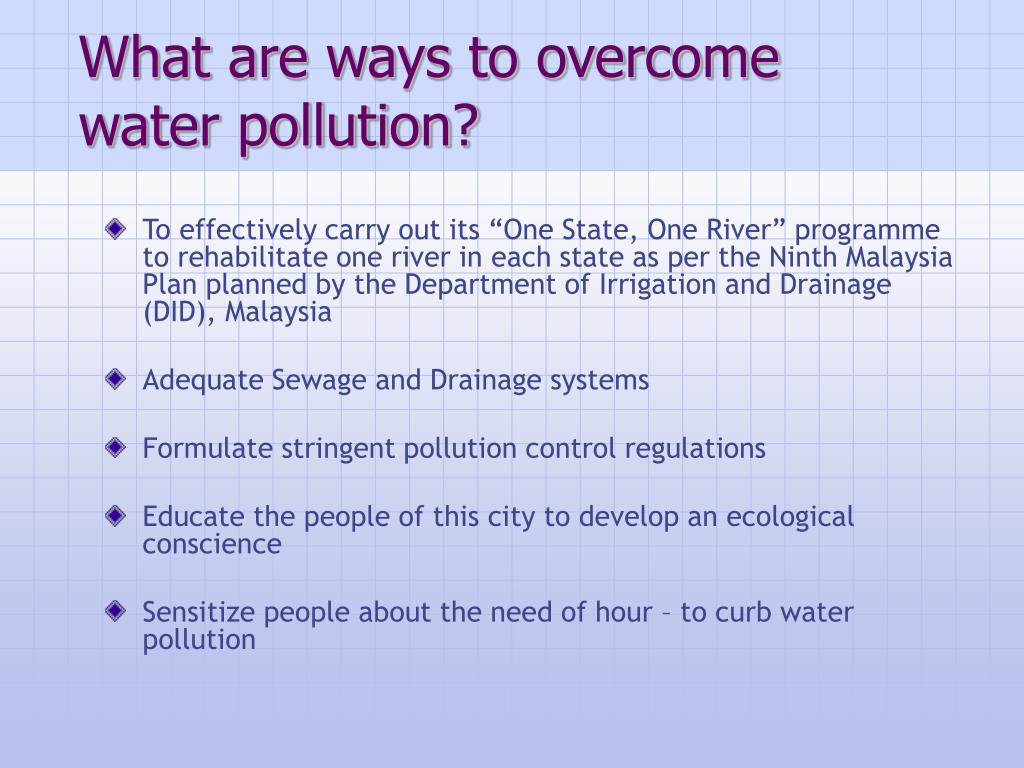 What are ways to overcome water pollution?
