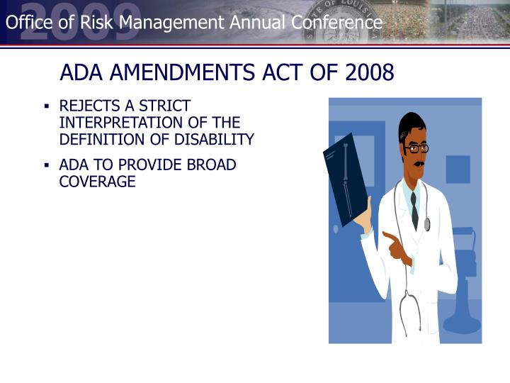 ADA AMENDMENTS ACT OF 2008